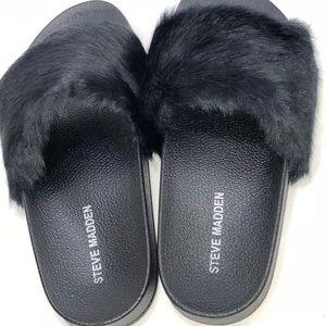 f9ebaa82140 Steve Madden Shoes - Steve Madden Softey Slide Sandal Black SZ 7